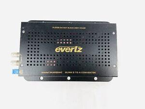 Evertz 2430gdac glink D A converter Fiber C be oaxial DVI-I Digital & Analog