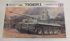 RARE Vintage Tamiya 1/35 German Tiger 1 Remote Tank w/Combat Crew WWII NEW LOOK