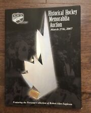 Alan Eagleson 2007 Hockey Auction Catalog Canada Cup Bobby Orr Wayne Gretzky ++