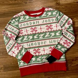 NEW-Air Jordan Nike Boys Jumpman Christmas Soft Sweater/Sweatshirt M-10/12-$50