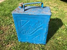 Used vintage 2 gallon petrol can Redline with brass cap 1936 valor