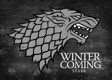 Game of Thrones Stark Winter is Coming Sigil Canvas HBO Official. 18 x 13
