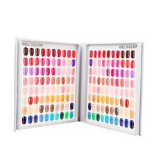 120 Colors Nail Art UV Gel Polish Tips Display Book Chart For Nail Art Salon New