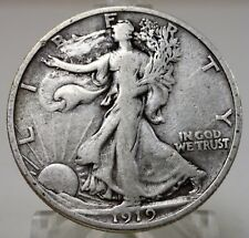 1919-S United States walking Liberty 90% silver half dollar, #A999