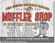 Busted Knuckle Muffler Shop funny TIN SIGN metal vintage garage wall decor 1624