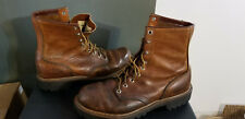 """Vintage Red Wing 9 1/2 Brown Leather (Oil resistant) USA MADE Boots/8"""" uppers"""