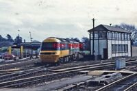 PHOTO  CLASS 253 HST UNIT 253 028 AT EXETER DIVERTED HST 1980'S