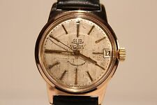 """VINTAGE RARE GERMANY GOLD PLATED MEN'S AUTOMATIC WATCH """"GUB GLASHUTTE"""" 67.1"""