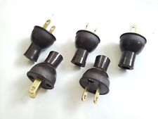 5 Pack Round Vintage Antique BROWN Electrical Plug Lamp Cord Fan Steampunk