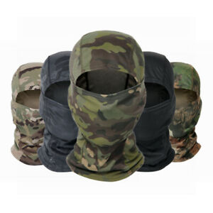 Breathable Windproof Camouflage Balaclava Full Face Mask Tactical Military Hood