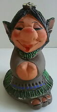 Jetmund Norwegian Pottery Figurine Female ELF Big Foot Forest TROLL Gnome 1960s