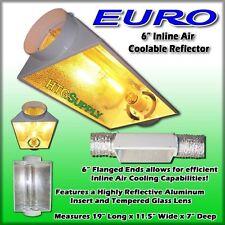 "2 pcs 6"" REFLECTOR HOOD AIR COOLED Grow Light hydroponics Six Inch Vents Cool in"