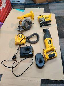 Dewalt power tool kit 18v nicd rip snorter recip torch  jigsaw charger battery