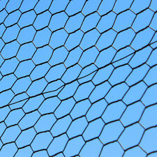 4' x 150' Steel Hex Web Mesh PVC Coated Metal Garden Animal Fence