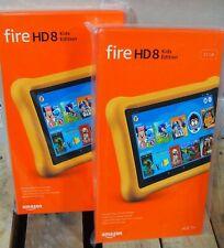 Amazon Fire HD 8 Kids Edition 8th Gen 32 GB, Wi-Fi, 8 in, Yellow Kid-Proof Case