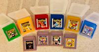 10 Pieces Game Cards Carts For Nintendo Pokemon GBC Game Boy Color Version USA
