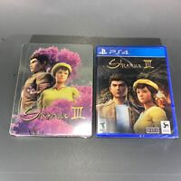 BRAND NEW, SEALED Shenmue 3 w/ Limited Edition Steelbook III PS4 Exclusive! FS