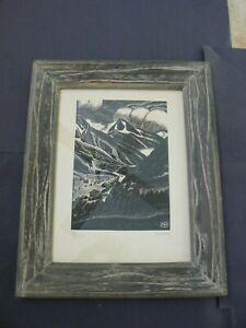 Edmund Bille, Signed & Numbered Wood Block Print