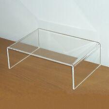 Premium Monitor Ständer Bildschirm Standfuß Bank Aufsatz Acryl Glas Klar Transpa