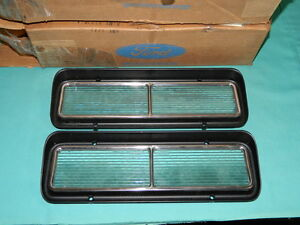 NOS 1971 Mercury Marquis & Brougham Parking Light Lens Set