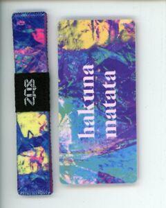 Medium ZOX Silver Singles Strap HAKUNA MATATA Wristband & Card