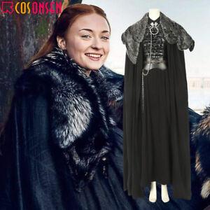 Sansa Stark Cosplay Costume Game of Thrones Season 8 Fancy Dress Halloween Suit