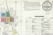 Savannah, Missouri~Sanborn Map©~sheets~in color 1886 to1916 with 14 maps on Cd