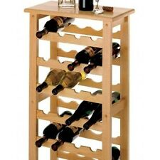 Wine Rack Bottle Holder Wood Kitchen Dining & Bar Storage Home Display Decor