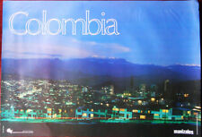 Original Poster Colombia Manizales Night Sityscape Lights Mountains Sky