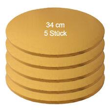Tortenplatte / Cake Board Rund Gold 34 cm 5 Stück