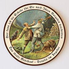 Auf Leben und Tod Kampf Jäger Gewehr Hund Schützenscheibe 41cm Wunschtext 43