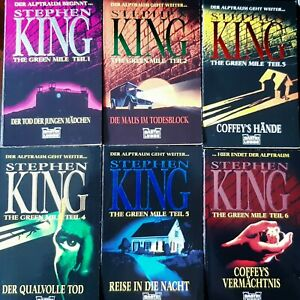 STEPHEN KING   The Green Mile  Teil 1-6     Taschbücher