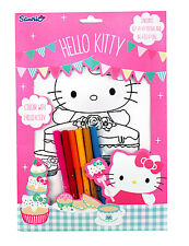 "HELLO KITTY Poster Set 18tlg. ""TEA PARTY"" 12 Poster DIN A4 & 6 Fasermaler COOL"