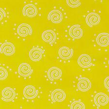 Petal Pushers BTY Me & My Sister Moda Fabric Yellow White Spirals Swirls Dots