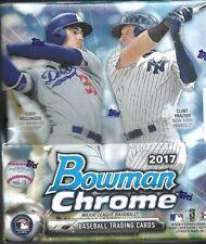 2017 Bowman Chrome Factory Sealed Baseball Hobby Box  2 AUTOGRAPHS