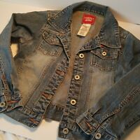 Guess CHILDS Size 10/12 BLUE DENIM JEAN JACKET great looking
