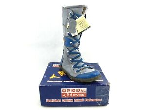TMA Eyes Women's Blue Contrast Stitch Lace Up Fashion Boots Size 39 2088