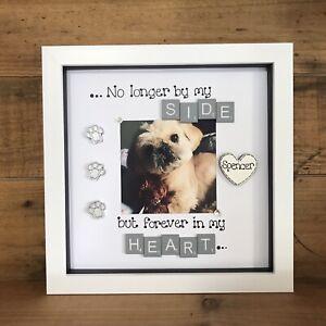 Remembrance Bereavement Memorial  Dog Cat Gift Scrabble Personalised Box Frame