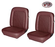 1968 Mustang Front & Rear Bucket Seat Upholstery- Dark Red, by TMI - IN STOCK!!