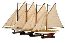 G419: Segelyachten Set Mini Pond Yachts, Modell Segelschiffe um 1920