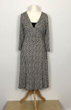 BHS Tie Up Dress Wrap Over Top With Attached Cami Long Sleeves Stretchy  Size 16
