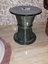 """18""""H 15"""" Dia Amazing Green Marble Table Top Stand Grill Work Home Decor E561(1)"""