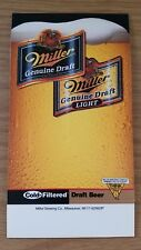 "Vintage Unused Miller Draft Light Beer Brewing Table Top Advertising Promo 4""x8"""