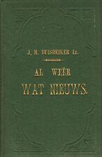AL WEER WAT NIEUWS (PROZA EN POEZIE VOOR DE JEUGD) - J.H. Duisdeiker (1880)