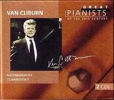 Van CLIBURN: GREAT PIANISTS OF THE 20TH CENTURY 2CD Rachmaninov Tchaikovsky