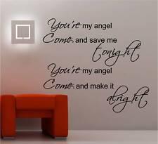 AEROSMITH ANGEL MUSIC LYRICS wall art sticker vinyl