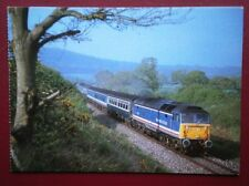 POSTCARD CLASS 47 LOCO NO 47 711 ON THE WATERLOO TO EXETER LINE