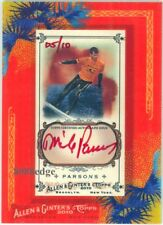 2010 TOPPS ALLEN & GINTER AUTOGRAPH AUTO RED INK SURFER: MIKE PARSONS #5/10
