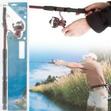 2 Meter Telescopic Fishing Casting Angling Rod Spinning Reel Line Xmas Gift Set