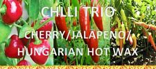 Chilli Trio - Jalapeno, Hungarian Hot Wax & Hot Cherry